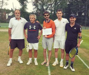 Men's doubles final - Lajos & Cedric, Greg & Marcio, umpired by James McKenzie